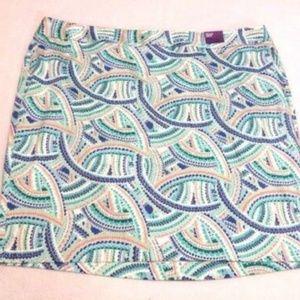 NEW Plus Size Geometric Scallop Pencil Skirt